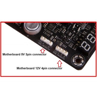 Backplate RGB gelasert + digitaler 3 PinBackplate gelasert +  RGB Stripe 5v/digital/-/ground (Mainboard beachten)